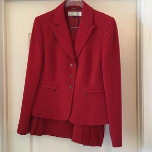 Tahari Red Power Suit
