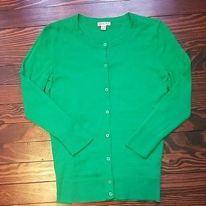 Green Merona Crew Neck Cardigan
