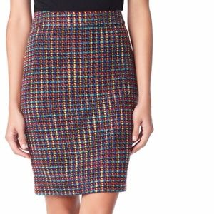 KATE SPADE Judy skirt tweed multicolor pencil 8