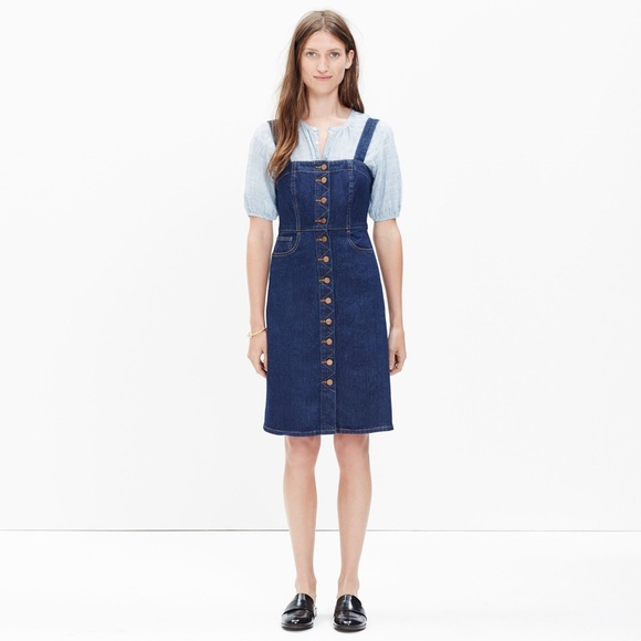 31ccc63c21 Madewell Dresses   Skirts - Madewell Denim Jumper Dress Matilda 2