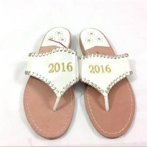Jack Rogers 2016 Embossed Sandals Thong Slip on