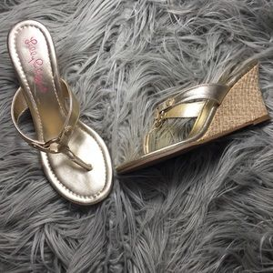 Lilly Pulitzer Woven Wedge Sandal