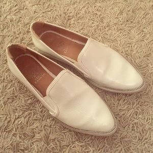Vince Camuto White Leather Sneakers, Sz 7.5 Womens