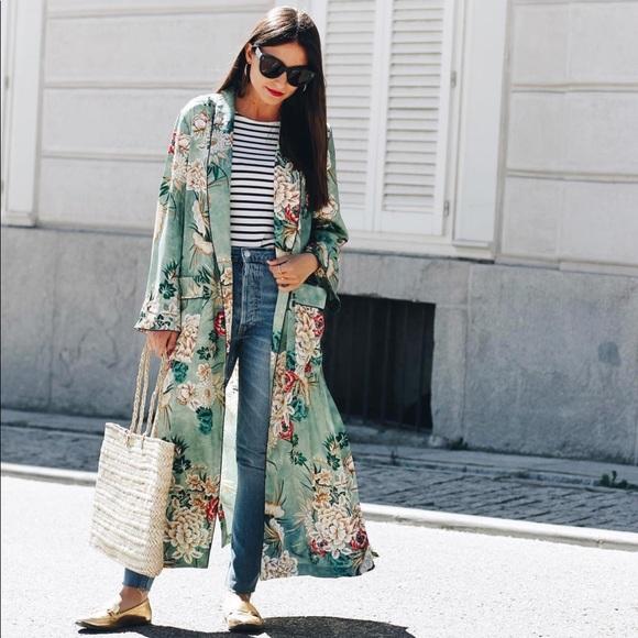 35273a24 Zara Jackets & Coats   Ss 2017 Kimono   Poshmark