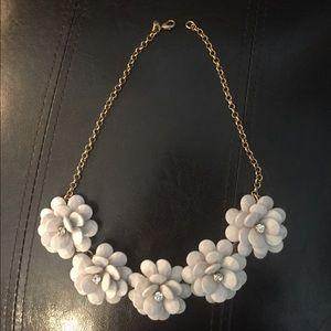 Jcrew Crystal Floral Burst Necklace