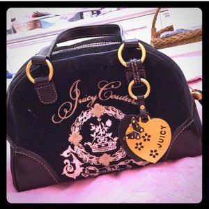 Black & Gold Juicy Couture Handbag - Barely Used!