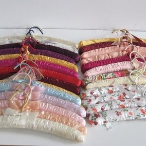 Clothes Hangers Padded Vintage set of  27