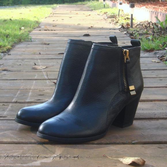 Franco Sardo Black Leather Double Zip