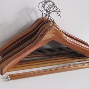 Clothes Hangers Wood Vintage set of 20