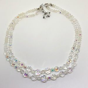 🆕Vintage Double-Strand Aurora Crystal Necklace
