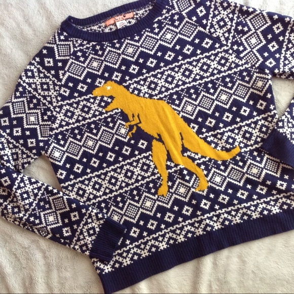 ef427df6 Love by Design Sweaters - Holiday Dinosaur Fair Isle Ugly Christmas Sweater
