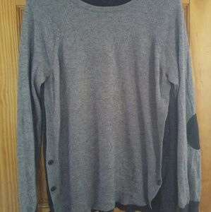 J.Crew grey sweater with buttons