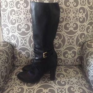 Chaps Judith knee high black boots