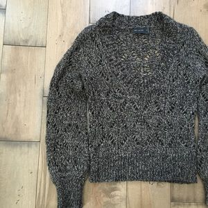 THE LIMITED SWEATER M BROWN WOOL MOHAIR ALPACA