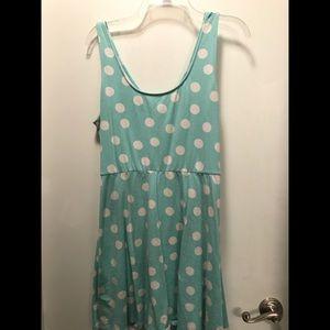 Light blue skater dress