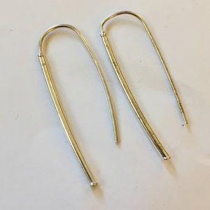 Sterling silver threader earrings dangle 925