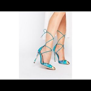 Asos Promises Laced Up Pointed Heel