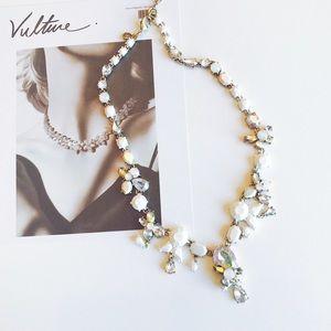 J. Crew white multi stone necklace