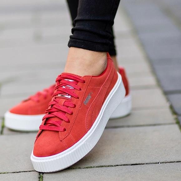 Puma Shoes | Cherry Red Platform S Size