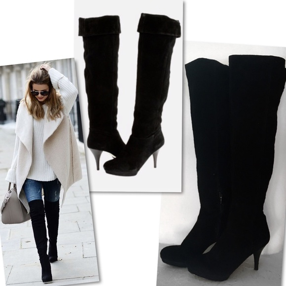 4ec99268dd3d NINE WEST DESTRY SUEDE LEATHER OVER THE KNEE BOOTS.  M 59ca847199086a372a0c23bb