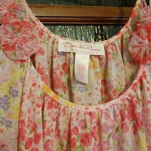 Floral pinks intimate top