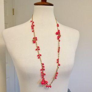 J. Crew • Neon Pink Bobble Bead Necklace