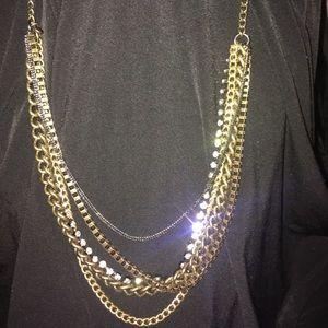 Five chain j crew necklace