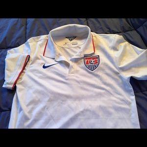 Nike Dri Fit soccer logo shirt