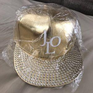 34a6092efeb Jennifer Lopez Accessories - 🆕🎉 Jennifer Lopez  s JLO Gold bling hat