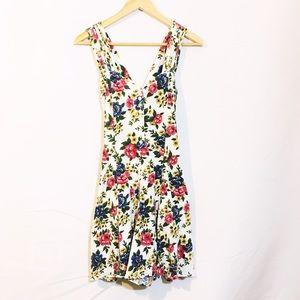 Pants - VINTAGE white floral dress romper with pockets