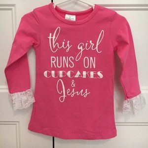 Other - NEW cupcakes & Jesus pink tee