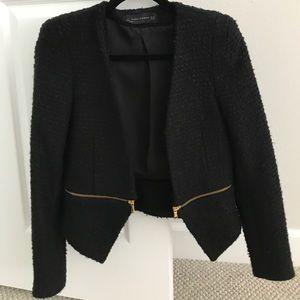 Zara blazer with zip detail