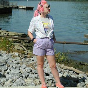 Lilac vintage shorts