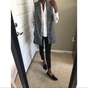 • Cynthia Rowley Herringbone Long Vest •