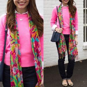 JCrew Bright Pink Wool Sweater