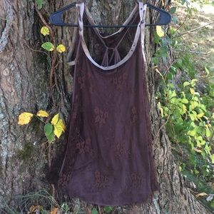 Salvage brown top small