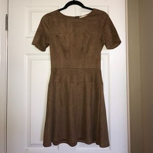 Suede fit & flare dress! Perfect condition!