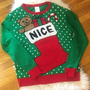 Sweaters - • Christmas NICE gifts ugly sweater •
