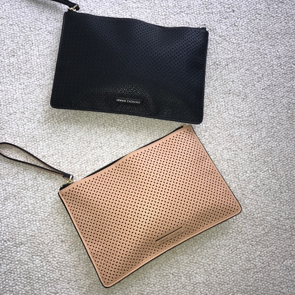 fd851d51b82 A X Armani Exchange Handbags - A X Armani Exchange Perforated Pebble Pu  Pouch