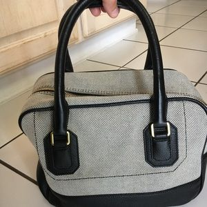 J. Crew black and white check handbag