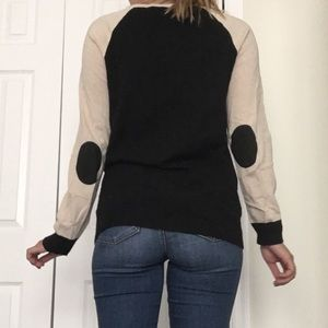 JCrew Two Toned Elbow Patch Sweater