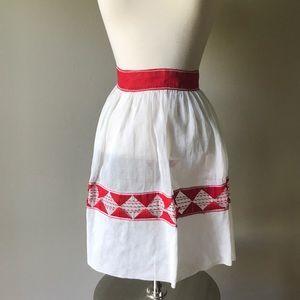 Vintage Red and White Diamond Apron