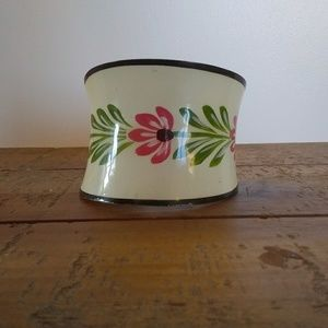 Vintage Brass and Enamel Painted Cuff
