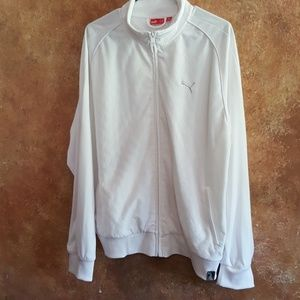 White Puma Mans Zippered sports jacket
