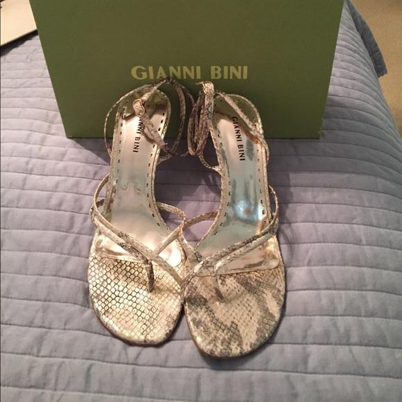 d44da3e0a5056a Gianni Bini Shoes - Gorgeous Snake Print Ankle Straps