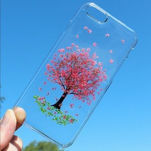 Accessories - Pink tree blossom flower phone case