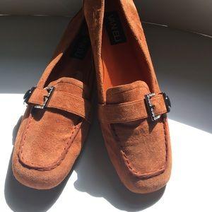 VANELI orange/rust loafers-like new! 8.5 NARROW