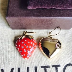 🍓FIRM PRICE🍓Louis Vuitton Bo Fraise Earrings NEW