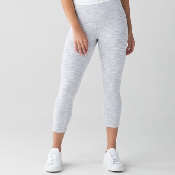 066b9d92f lululemon athletica Pants - LULULEMON leggings 3 4 length white space dye!