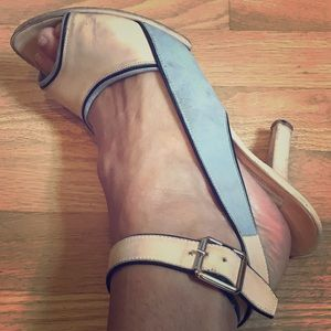Narciso Rodriguez pink and blue heel